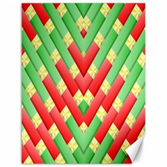 Christmas Geometric 3d Design Canvas 12  X 16
