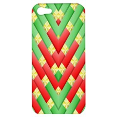 Christmas Geometric 3d Design Apple Iphone 5 Hardshell Case by Amaryn4rt