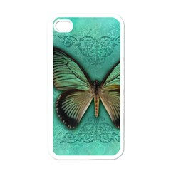 Butterfly Background Vintage Old Grunge Apple Iphone 4 Case (white)