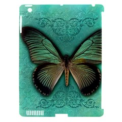 Butterfly Background Vintage Old Grunge Apple Ipad 3/4 Hardshell Case (compatible With Smart Cover) by Amaryn4rt