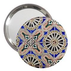 Ceramic Portugal Tiles Wall 3  Handbag Mirrors