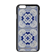 Ceramic Portugal Tiles Wall Apple Iphone 6/6s Black Enamel Case by Amaryn4rt