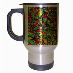 Canvas Acrylic Design Color Travel Mug (silver Gray)