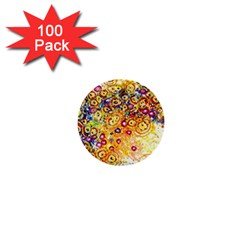 Canvas Acrylic Design Color 1  Mini Buttons (100 Pack)  by Amaryn4rt