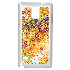 Canvas Acrylic Design Color Samsung Galaxy Note 4 Case (White) by Amaryn4rt
