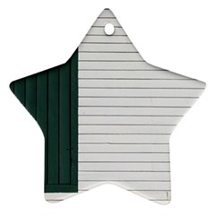 Construction Design Door Exterior Star Ornament (two Sides) by Amaryn4rt