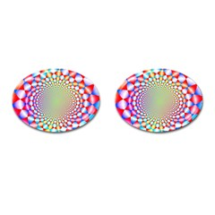 Color Abstract Background Textures Cufflinks (oval) by Amaryn4rt