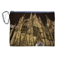 Cologne Church Evening Showplace Canvas Cosmetic Bag (xxl) by Amaryn4rt