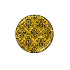 Damask1 Black Marble & Yellow Marble (r) Hat Clip Ball Marker (10 Pack) by trendistuff