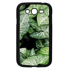 Green Leaves Nature Pattern Plant Samsung Galaxy Grand Duos I9082 Case (black) by Amaryn4rt