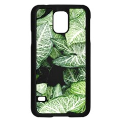 Green Leaves Nature Pattern Plant Samsung Galaxy S5 Case (black)