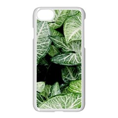 Green Leaves Nature Pattern Plant Apple Iphone 7 Seamless Case (white) by Amaryn4rt