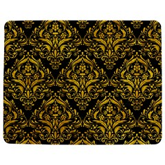 Damask1 Black Marble & Yellow Marble Jigsaw Puzzle Photo Stand (rectangular) by trendistuff
