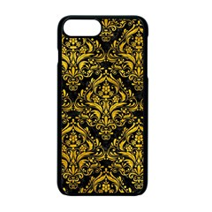 Damask1 Black Marble & Yellow Marble Apple Iphone 7 Plus Seamless Case (black) by trendistuff