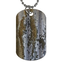 Grunge Rust Old Wall Metal Texture Dog Tag (one Side) by Amaryn4rt