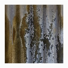 Grunge Rust Old Wall Metal Texture Medium Glasses Cloth (2 Side) by Amaryn4rt