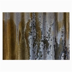 Grunge Rust Old Wall Metal Texture Large Glasses Cloth (2 Side) by Amaryn4rt