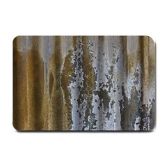 Grunge Rust Old Wall Metal Texture Small Doormat  by Amaryn4rt