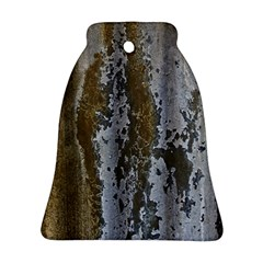 Grunge Rust Old Wall Metal Texture Bell Ornament (two Sides) by Amaryn4rt