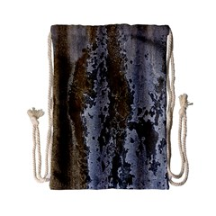 Grunge Rust Old Wall Metal Texture Drawstring Bag (small) by Amaryn4rt