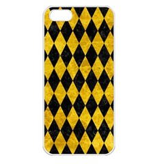 Diamond1 Black Marble & Yellow Marble Apple Iphone 5 Seamless Case (white) by trendistuff