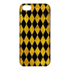 Diamond1 Black Marble & Yellow Marble Apple Iphone 5c Hardshell Case by trendistuff