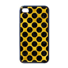 Circles2 Black Marble & Yellow Marble (r) Apple Iphone 4 Case (black) by trendistuff