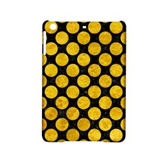 Circles2 Black Marble & Yellow Marble Apple Ipad Mini 2 Hardshell Case by trendistuff