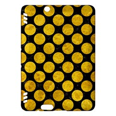 Circles2 Black Marble & Yellow Marble Kindle Fire Hdx Hardshell Case by trendistuff
