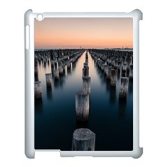 Logs Nature Pattern Pillars Shadow Apple Ipad 3/4 Case (white) by Amaryn4rt