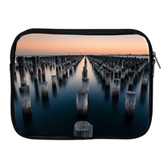 Logs Nature Pattern Pillars Shadow Apple Ipad 2/3/4 Zipper Cases