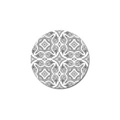 Mandala Line Art Black And White Golf Ball Marker by Amaryn4rt