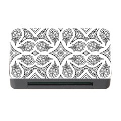 Mandala Line Art Black And White Memory Card Reader With Cf by Amaryn4rt