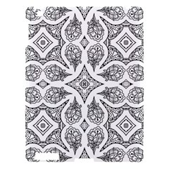 Mandala Line Art Black And White Apple Ipad 3/4 Hardshell Case by Amaryn4rt