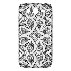 Mandala Line Art Black And White Samsung Galaxy Mega 5 8 I9152 Hardshell Case
