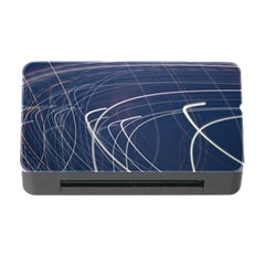 Light Movement Pattern Abstract Memory Card Reader With Cf