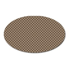 Pattern Background Diamonds Plaid Oval Magnet by Amaryn4rt