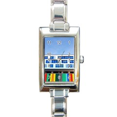 Office Building Rectangle Italian Charm Watch by Amaryn4rt