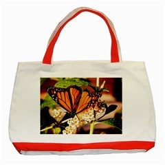 Monarch Butterfly Nature Orange Classic Tote Bag (red)