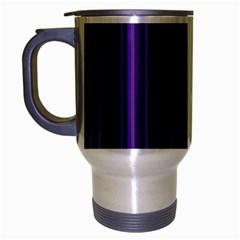 Purple Travel Mug (Silver Gray) by Valentinaart