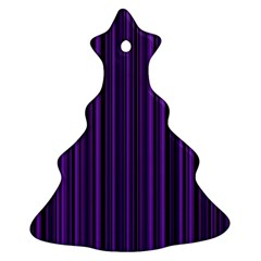 Purple Christmas Tree Ornament (two Sides) by Valentinaart