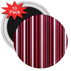 Red Lines 3  Magnets (10 Pack)  by Valentinaart