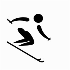 Archery Skiing Pictogram Small Garden Flag (two Sides) by abbeyz71