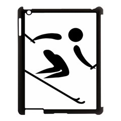 Archery Skiing Pictogram Apple Ipad 3/4 Case (black) by abbeyz71