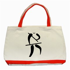 Arnis Pictogram Classic Tote Bag (red) by abbeyz71