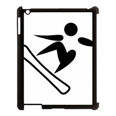 Snowboarding Pictogram  Apple Ipad 3/4 Case (black) by abbeyz71