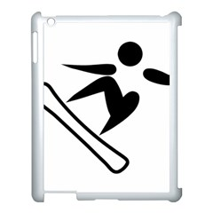 Snowboarding Pictogram  Apple Ipad 3/4 Case (white) by abbeyz71