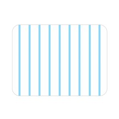 Blue Lines Double Sided Flano Blanket (mini)  by Valentinaart