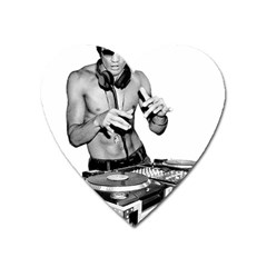 Bruce Lee Dj Heart Magnet by offbeatzombie