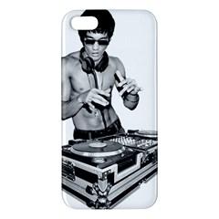 Bruce Lee Dj Apple Iphone 5 Premium Hardshell Case by offbeatzombie